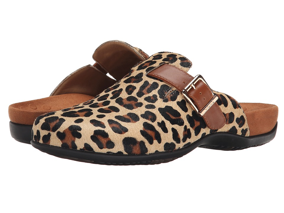 VIONIC - Rest Calgary Slide (Tan Leopard) Women