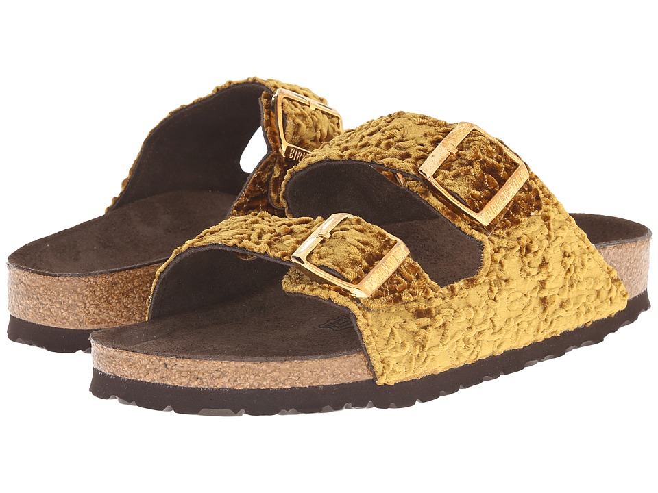Birkenstock - Arizona Soft Footbed (Persian Gold Textile) Women's Shoes