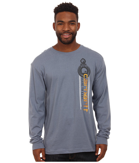 Carhartt - Maddock Graphic Made to Last Pulley Long Sleeve Tee (Flint Stone) Men's T Shirt