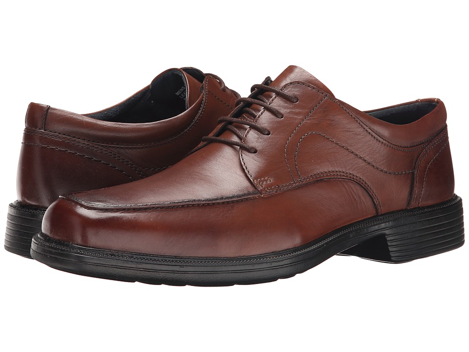 Nunn Bush - Chattanooga Moc Toe Oxford (Brown) Men's Dress Flat Shoes