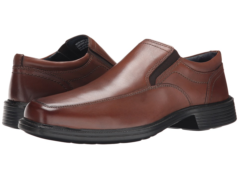 Nunn Bush - Calgary Moc Toe Slip-On (Brown) Men's Slip-on Dress Shoes