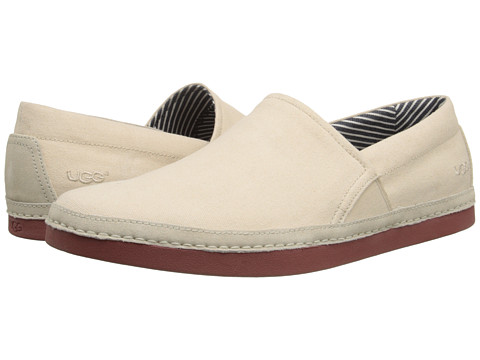 UGG - Reefton Canvas (Blank Canvas/Canvas) Men's Slip on Shoes
