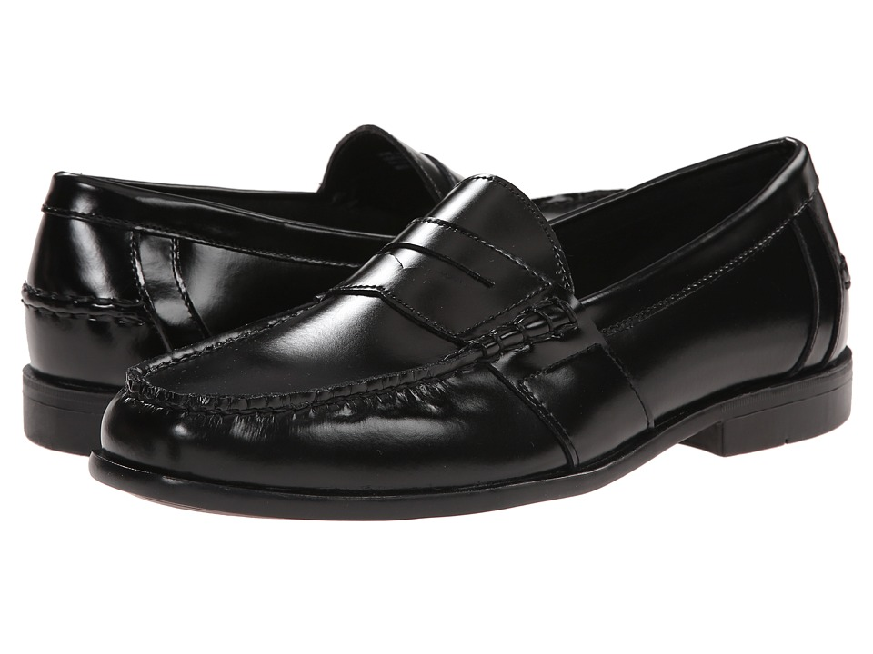 Nunn Bush Kent Moc Toe Penny Loafer (Black) Men