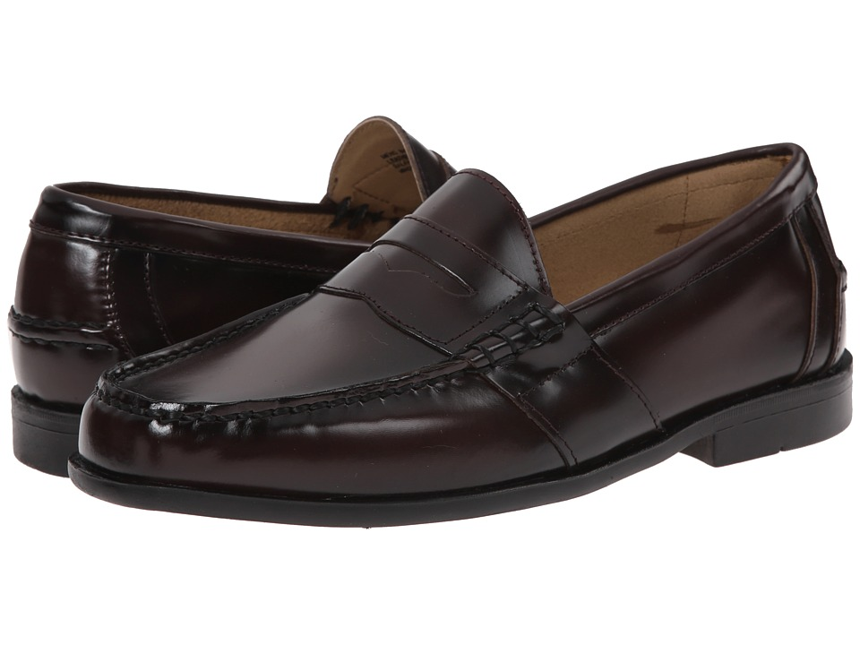Nunn Bush Kent Moc Toe Penny Loafer (Burgundy) Men