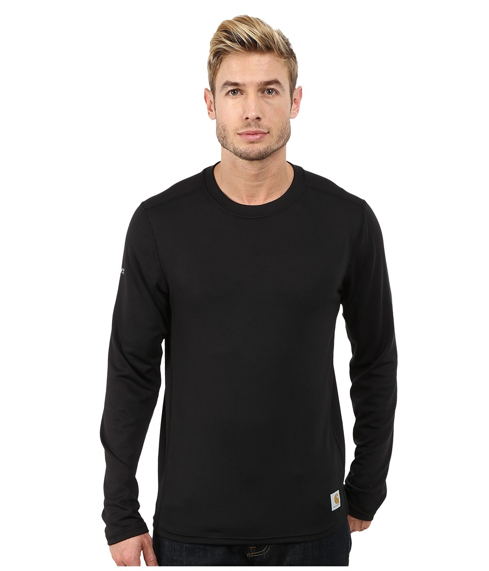 Carhartt - Base Force Cool Weather Crew Neck Top (Black) Men's Long Sleeve Pullover
