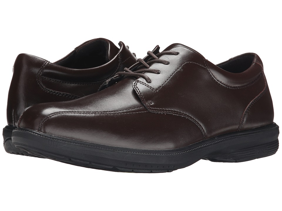 Nunn Bush - Mulberry St. Bike Toe Oxford (Brown) Men's Lace-up Bicycle Toe Shoes