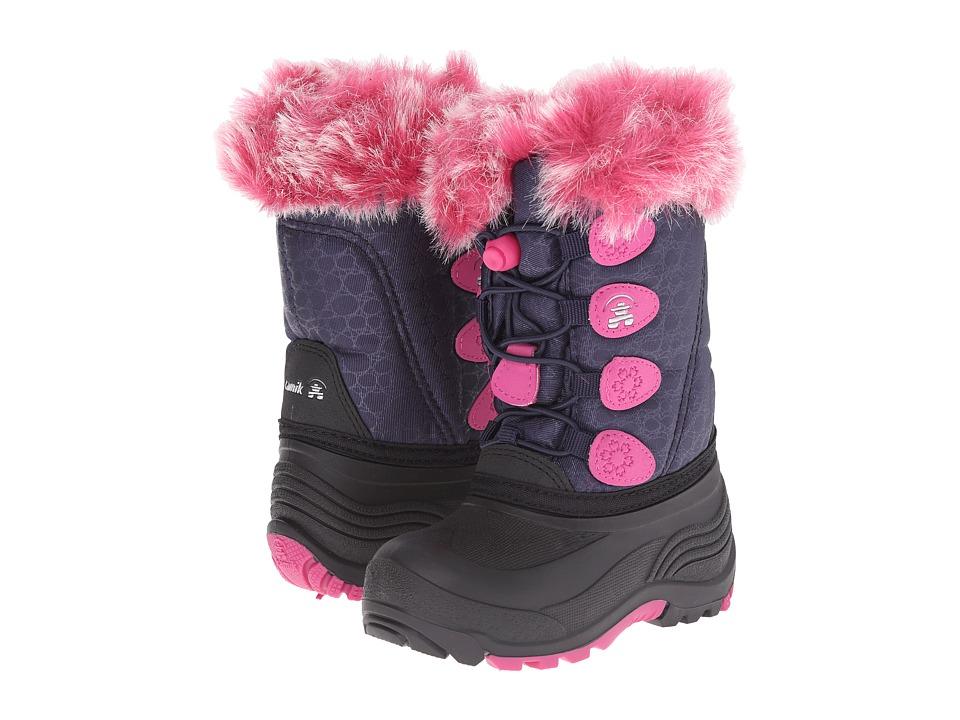 Kamik Kids Snowgypsy (Toddler/Little Kid/Big Kid) (Navy) Girls Shoes