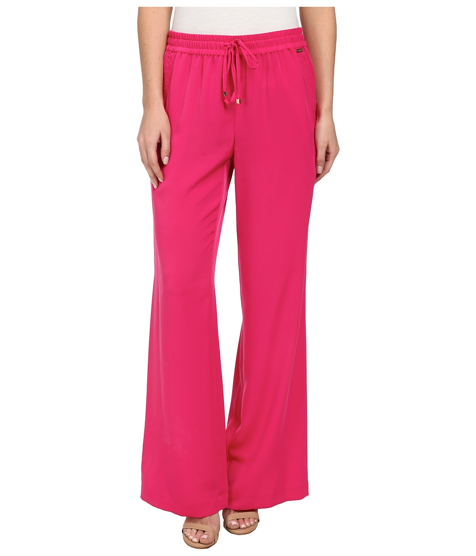 Calvin Klein - Woven Pants w/ Pockets (Hibiscus) Women's Casual Pants