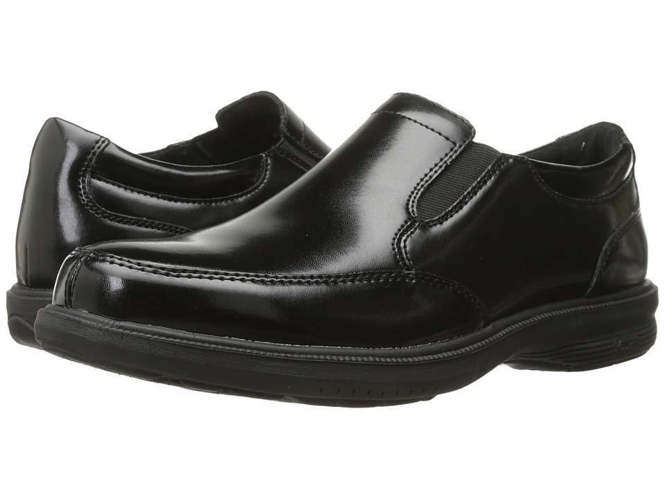 Nunn Bush - Madison Street Moc Toe Slip-On (Black) Men's Slip-on Dress Shoes