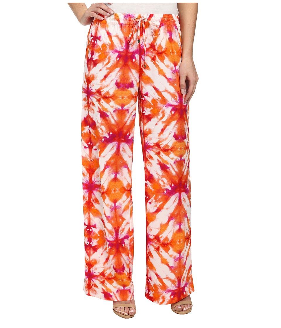 Calvin Klein - Printed Wide Leg Pants (Tart Multi) Women's Casual Pants