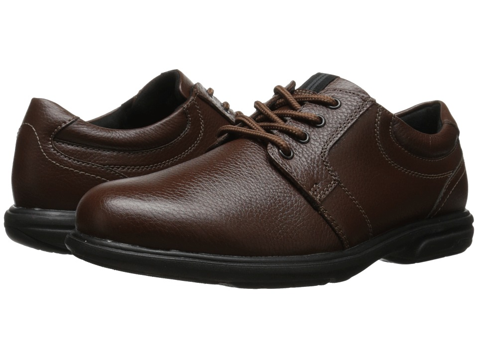 Nunn Bush Cole Plain Toe Oxford (Chestnut) Men