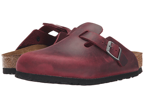 Birkenstock - Boston Soft Footbed (Unisex) (Zinfandel Oiled Leather) Clog Shoes