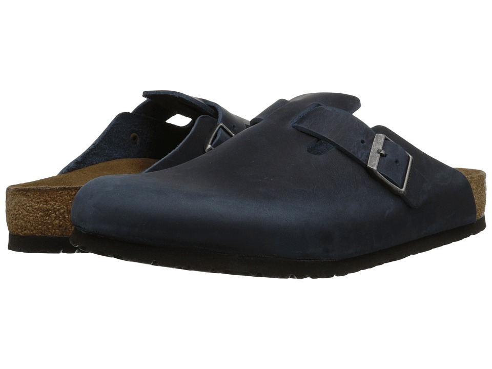 Birkenstock - Boston Soft Footbed (Unisex) (Insignia Blue Oiled Leather) Clog Shoes