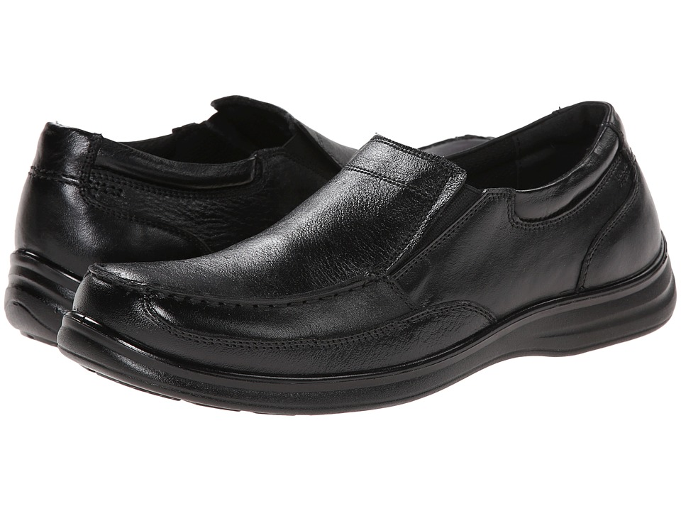 Nunn Bush Max Moc Toe Slip-On (Black) Men