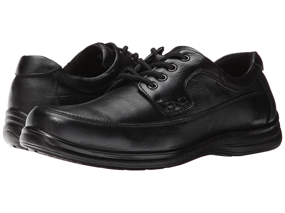 Nunn Bush - Mo Moc Toe Oxford (Black) Men's Lace up casual Shoes