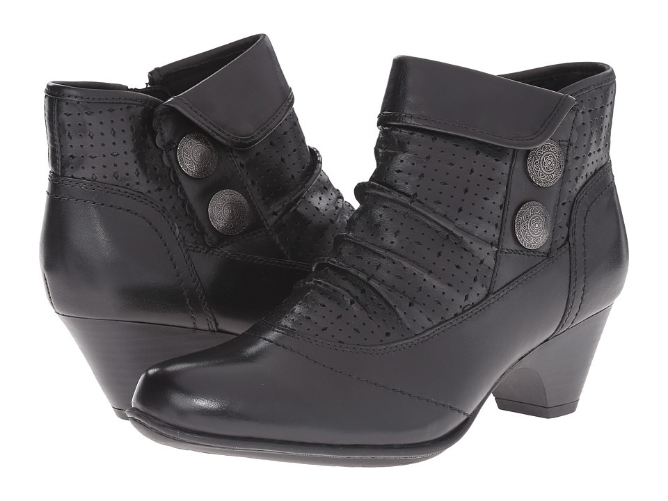 Rockport Cobb Hill Collection - Daniela (Black Smooth) Women's Zip Boots