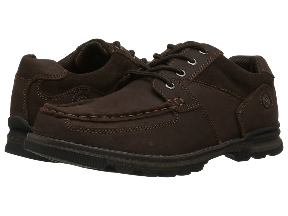 Nunn Bush - Plover Moc Toe Oxford All Terrain Comfort (Brown) Men's Lace up casual Shoes