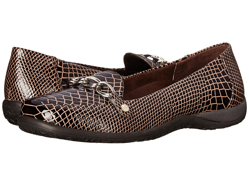 VIONIC - Alda Flat Loafer (Chocolate Patent Croco) Women