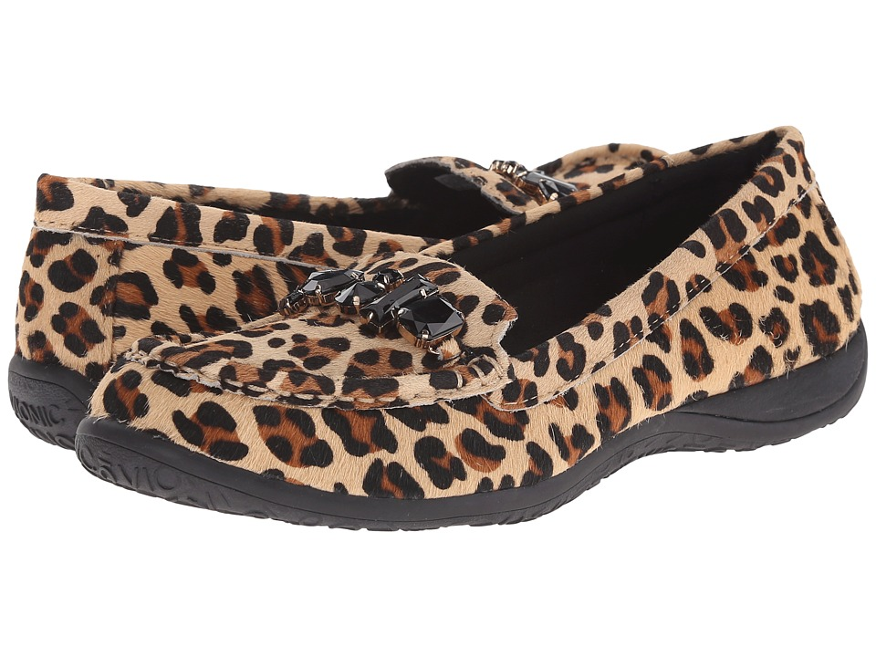 VIONIC - Charm Pacific Loafer (Tan Leopard) Women's Slip on Shoes