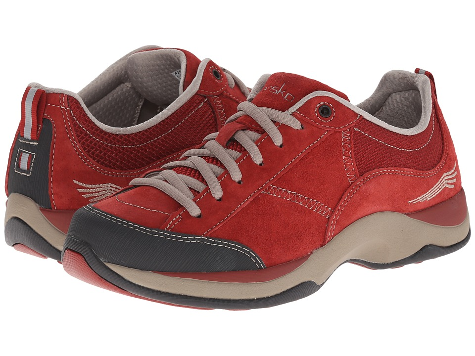 Dansko - Sabrina (Brick Red Suede) Women's Lace up casual Shoes