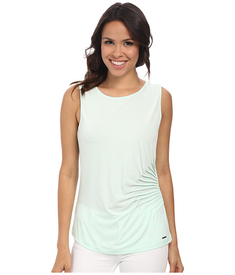 Calvin Klein - Sleeveless Side Rouched Cami (Mint) Women's Sleeveless