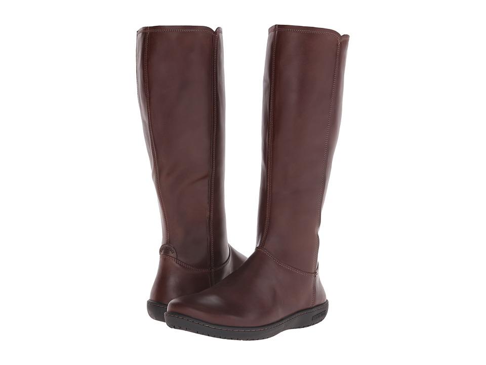 Birkenstock - Farmington (Dark Brown Leather/Nubuck) Women's Zip Boots