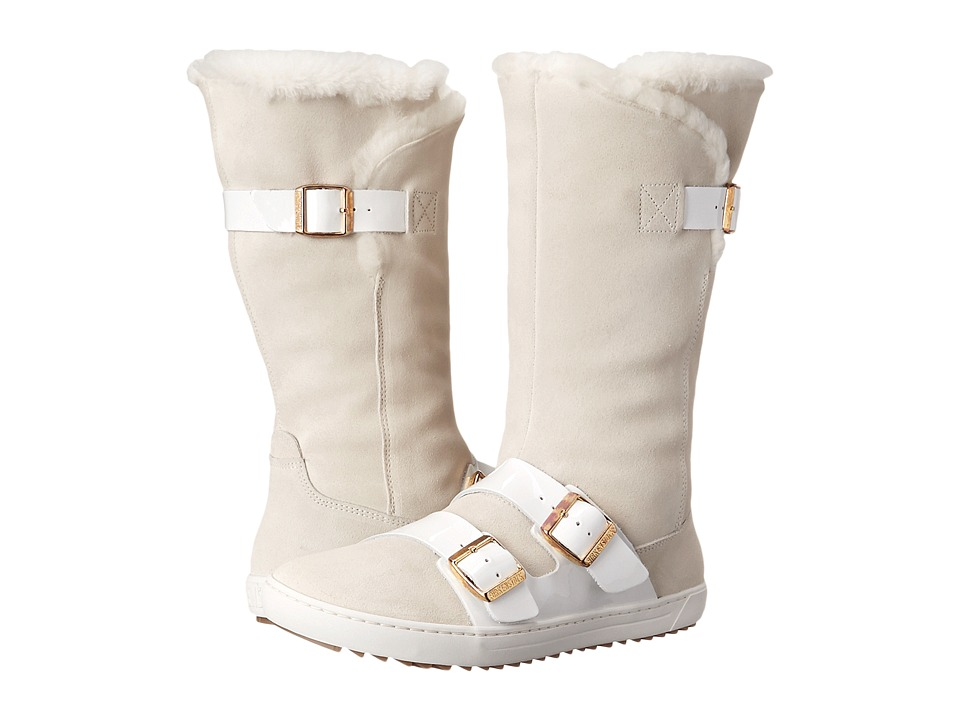 Birkenstock Danbury Shearling Lined (White Suede/Leather) Women
