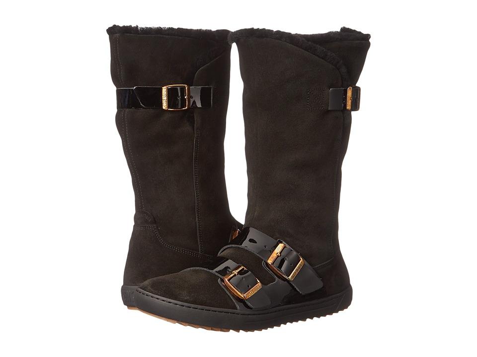 Birkenstock Danbury Shearling Lined (Black Suede/Leather) Women