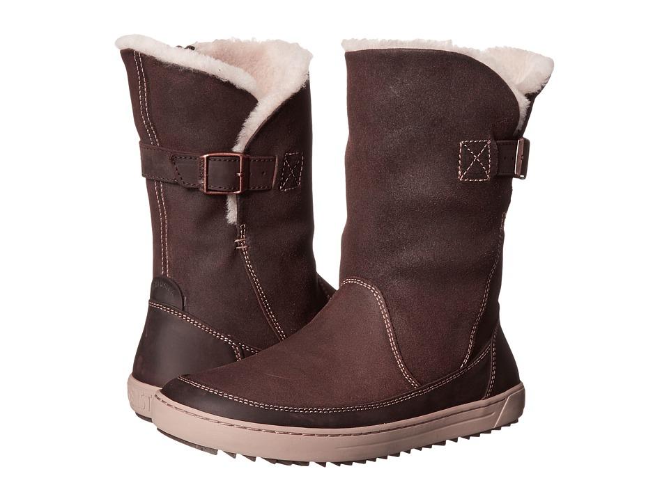 Birkenstock - Woodbury Shearling Lined (Dark Brown Nubuck) Women's Boots