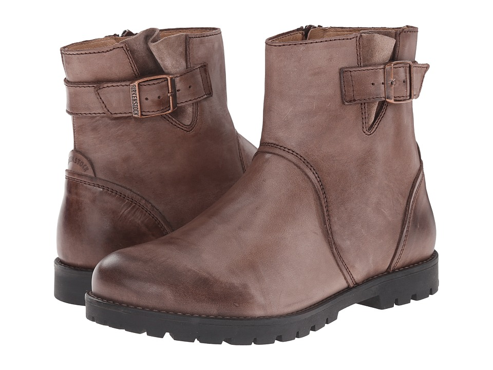 Birkenstock - Stowe (Dark Brown Leather) Women's Zip Boots