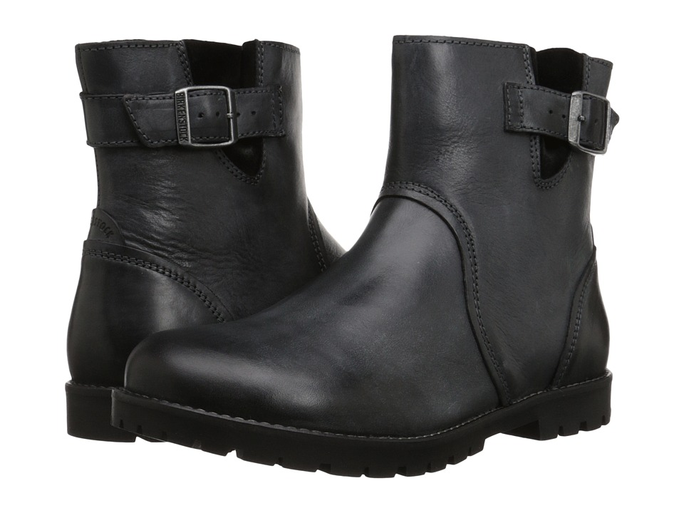 Birkenstock - Stowe (Black Leather) Women's Zip Boots