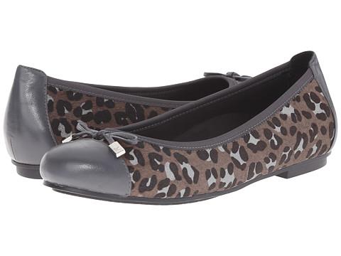 VIONIC - Spark Minna Ballet Flat (Black/Grey Leopard) Women's Flat Shoes
