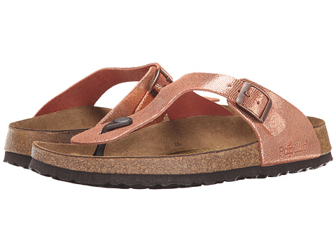 Birkenstock - Gizeh (Shiny Copper Suede) Women's Shoes