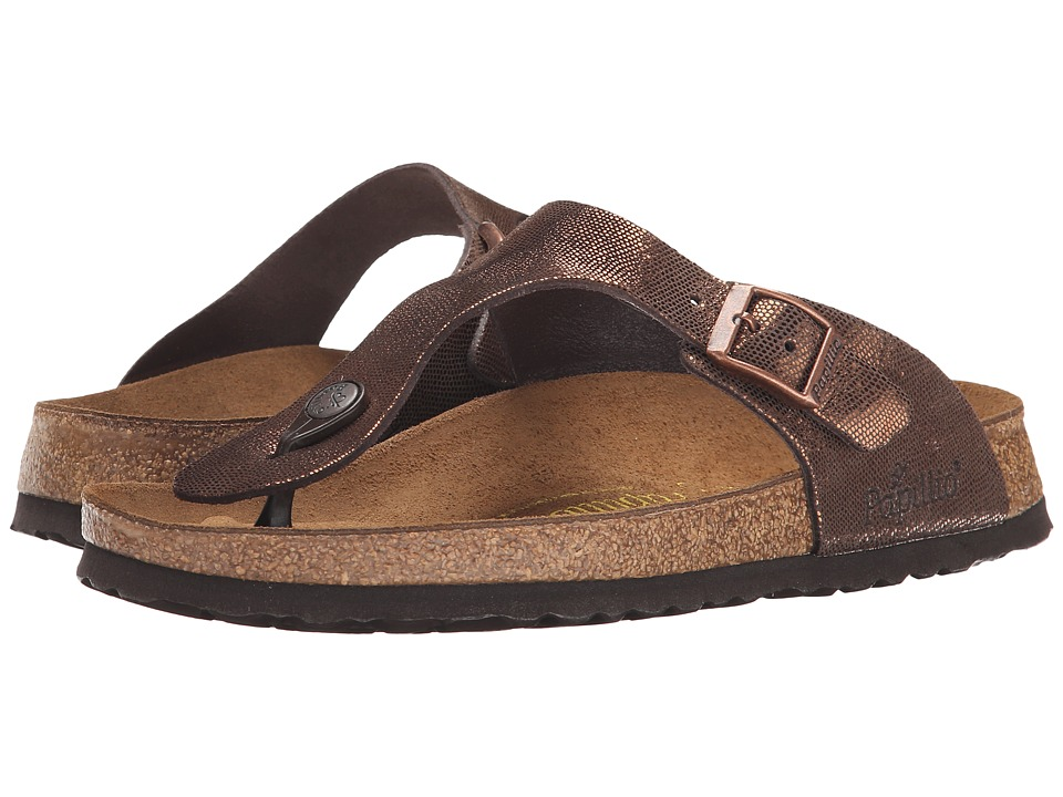 Birkenstock - Gizeh (Shiny Brown Suede) Women's Shoes