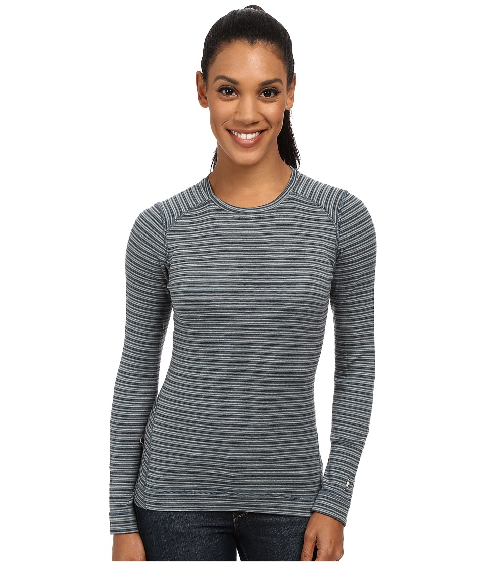 Smartwool - NTS Mid 250 Pattern Crew Top (Sea Pine Heather) Women's Long Sleeve Pullover