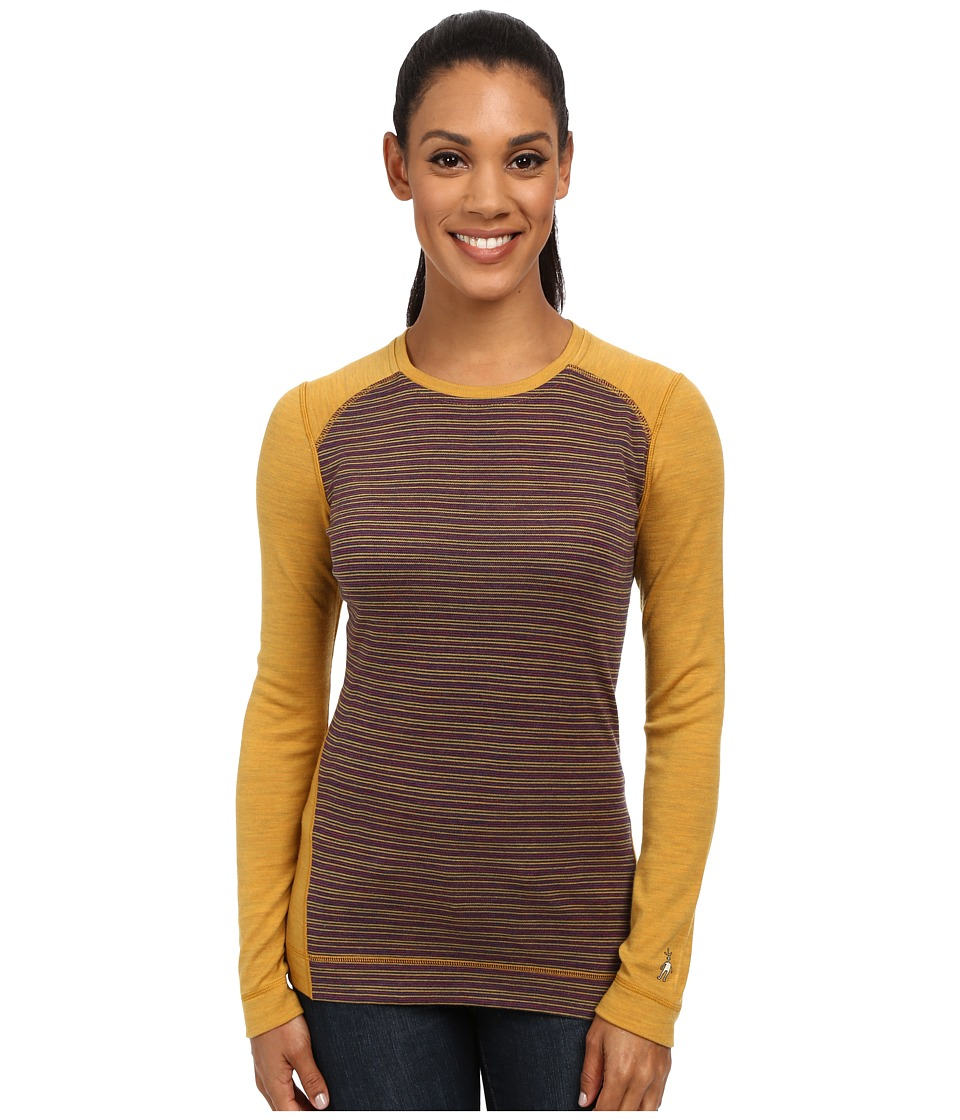Smartwool - NTS Mid 250 Pattern Crew Top (Sunglow Heather) Women's Long Sleeve Pullover