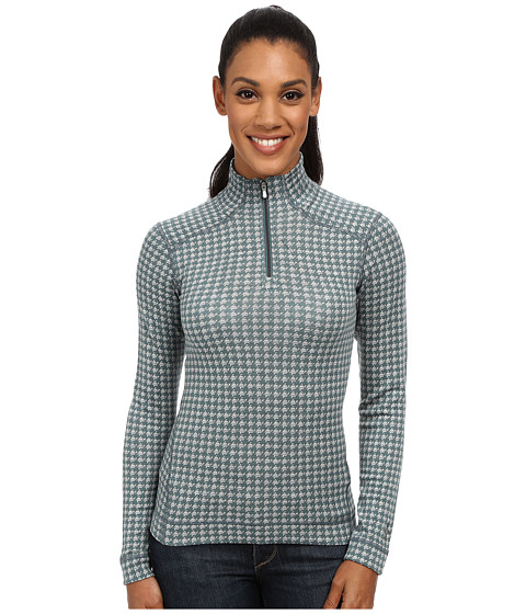 Smartwool - NTS Mid 250 Pattern Zip Top (Sea Pine Heather) Women's Long Sleeve Pullover