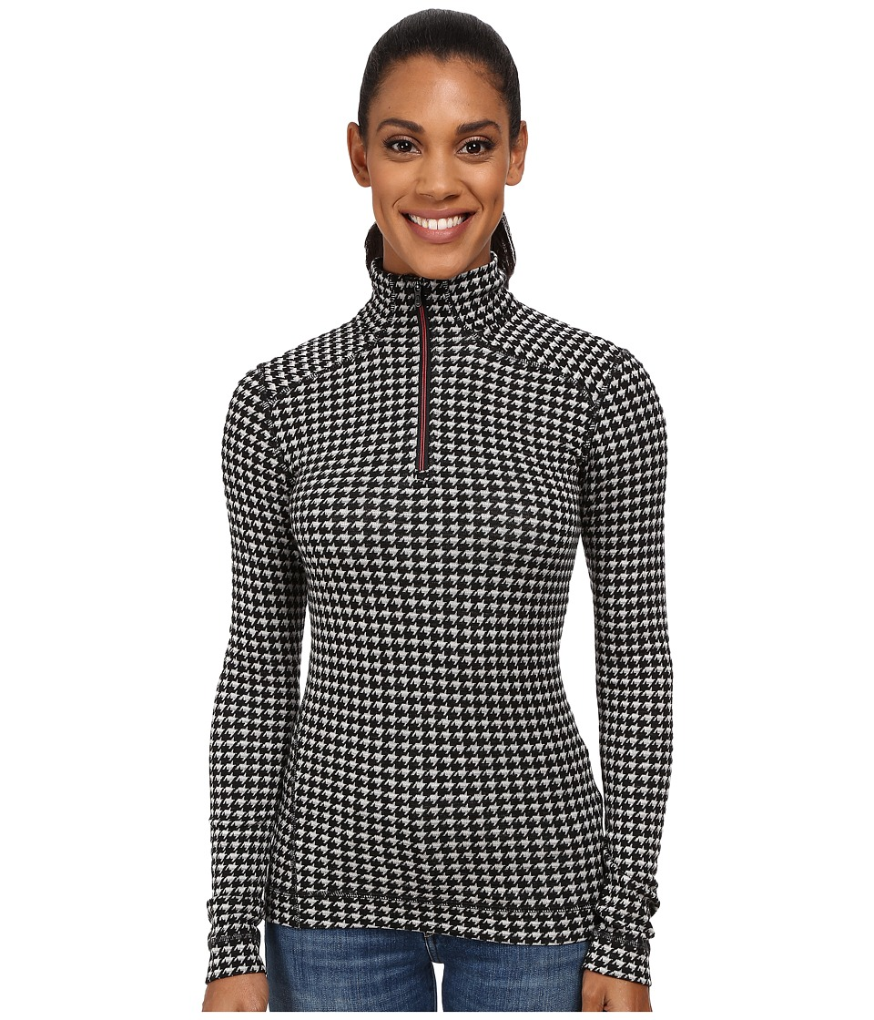 Smartwool - NTS Mid 250 Pattern Zip Top (Black/Light Gray Heather) Women's Long Sleeve Pullover