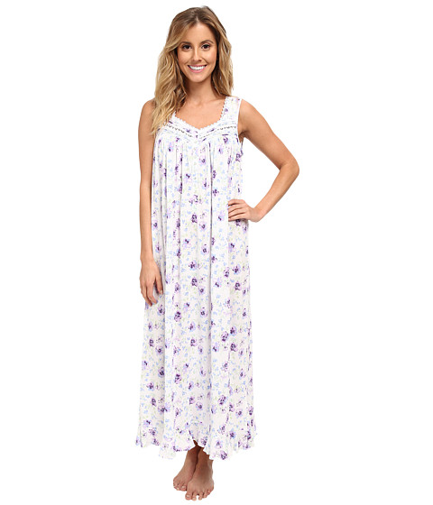 Eileen West - Picture Perfect Ballet Gown (Lavendar Floral) Women's Pajama