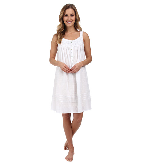 Eileen West - Valley of the Moon Short Gown (White) Women's Pajama