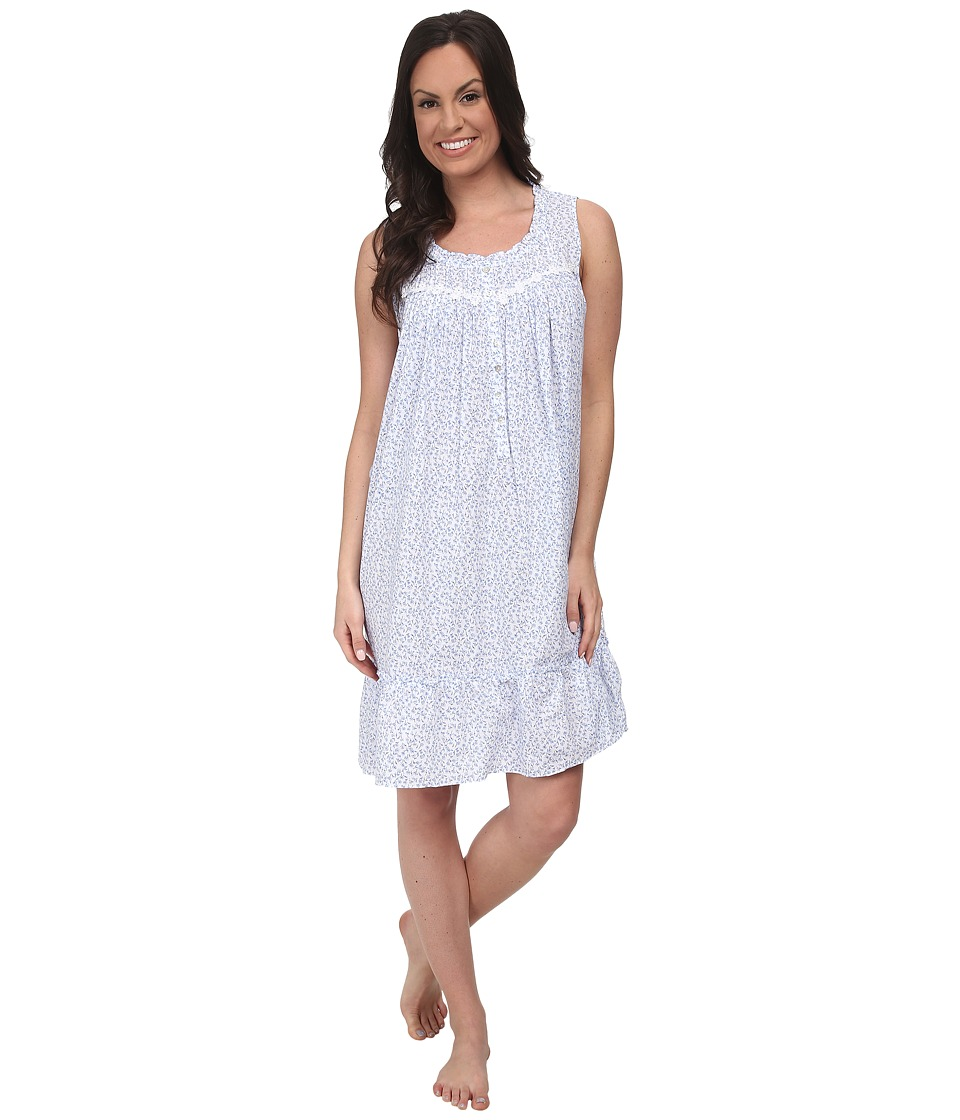 Eileen West - Summer Days Short Gown (White Ditsy) Women's Pajama