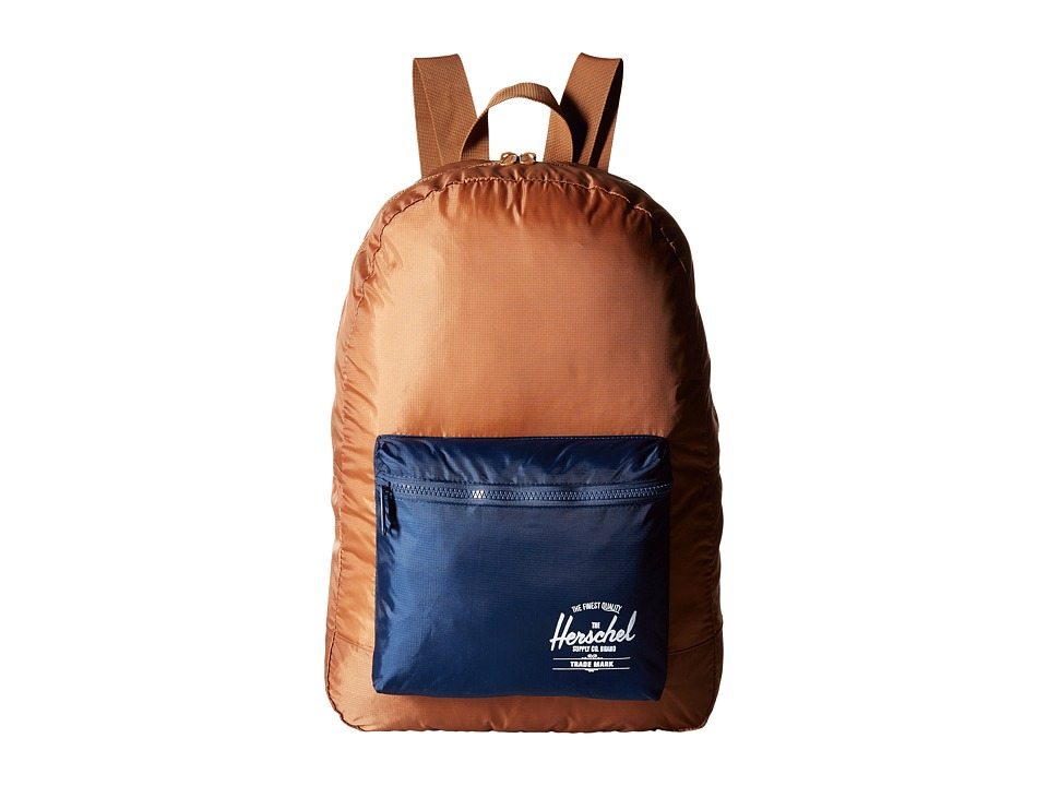 Herschel Supply Co. - Packable Daypack (Caramel/Navy) Backpack Bags