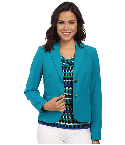 Calvin Klein - Two-Button Jacket (Lagoon) Women