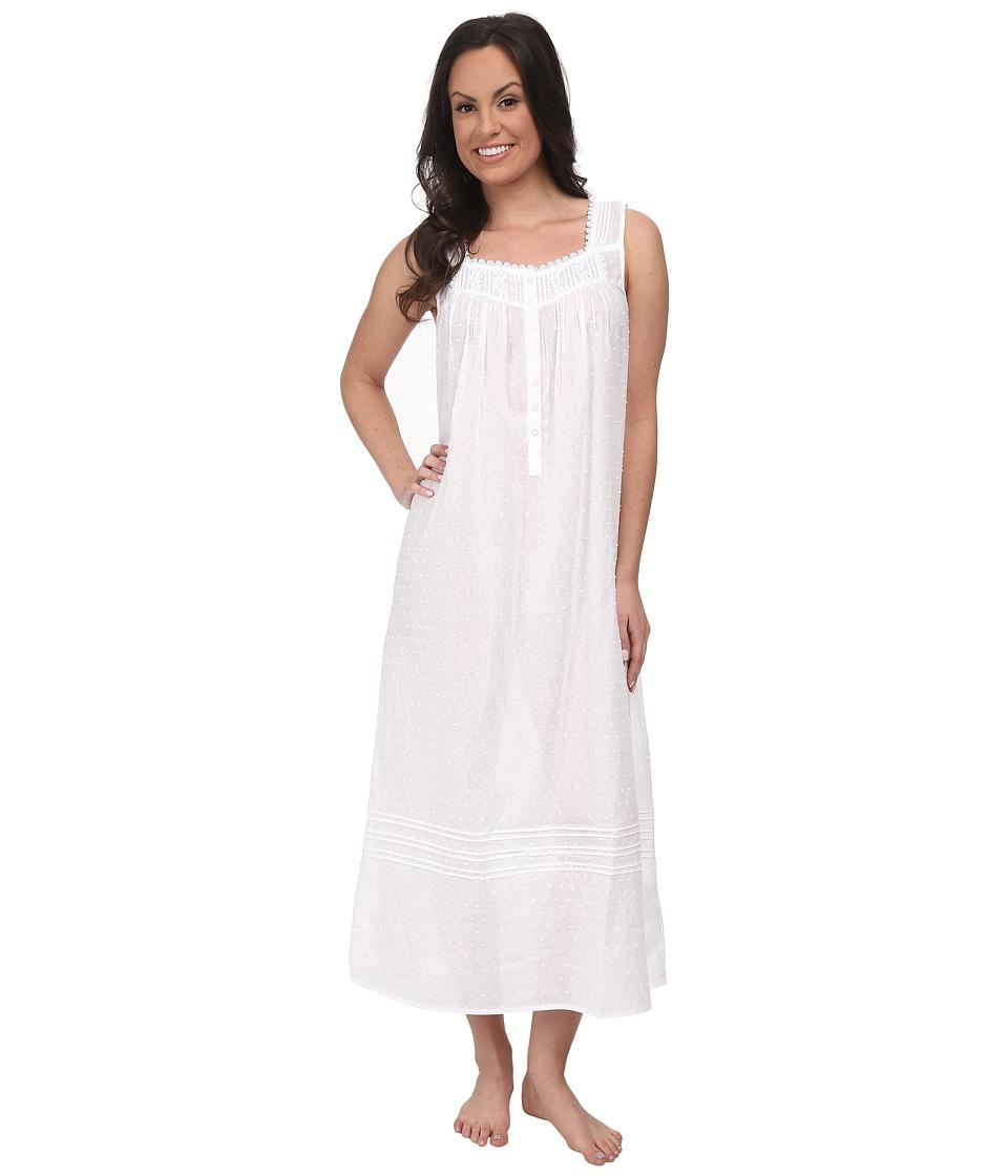 Eileen West - Sea Mist Ballet Gown (White Swiss Dot) Women's Pajama