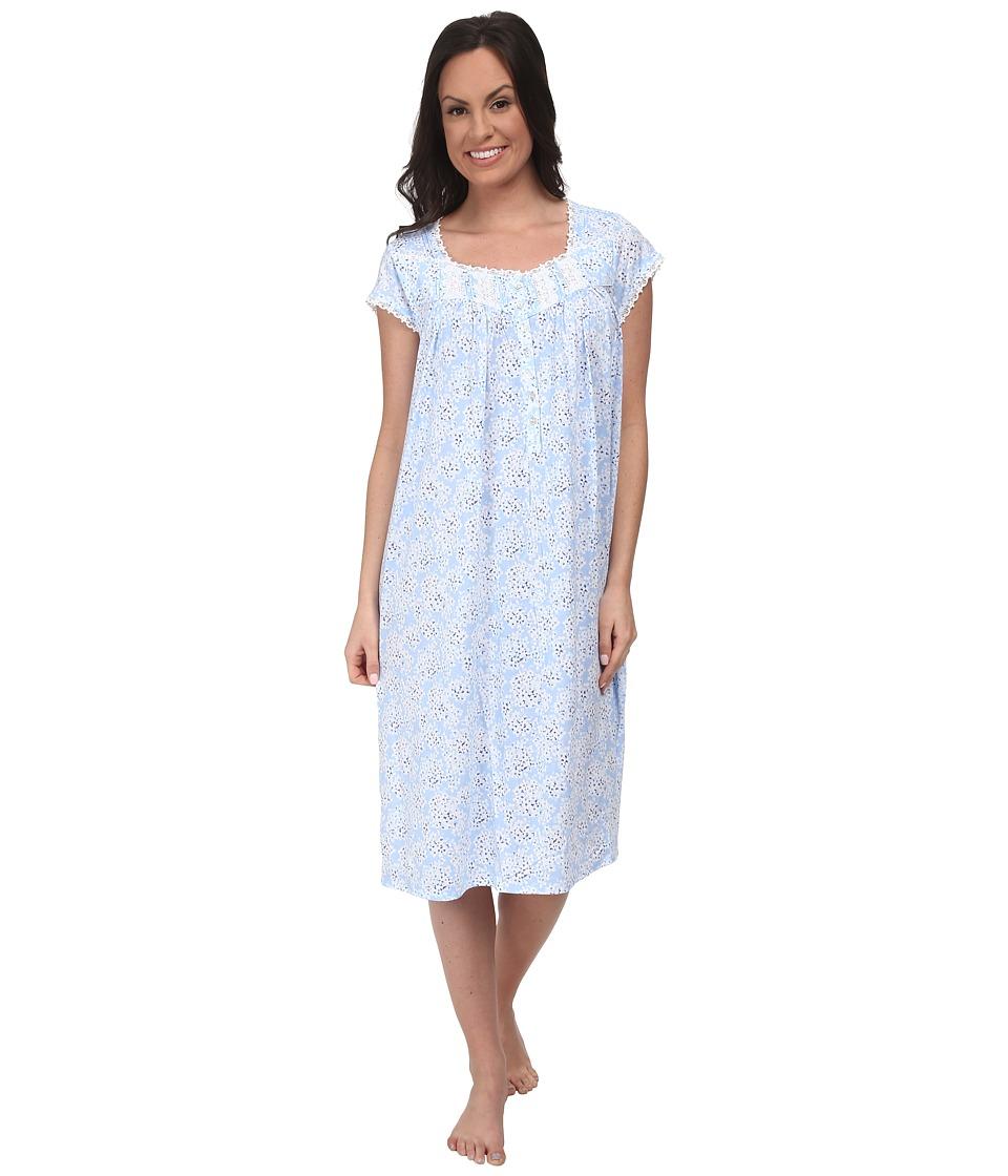 Eileen West - Coastal Bloom Waltz Gown (Peri Floral) Women's Pajama
