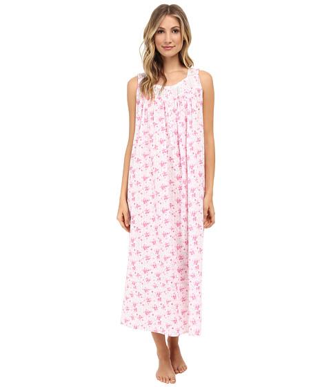 Eileen West - Muir Beach Bliss Ballet Gown (White Ground Pink Multi) Women's Pajama