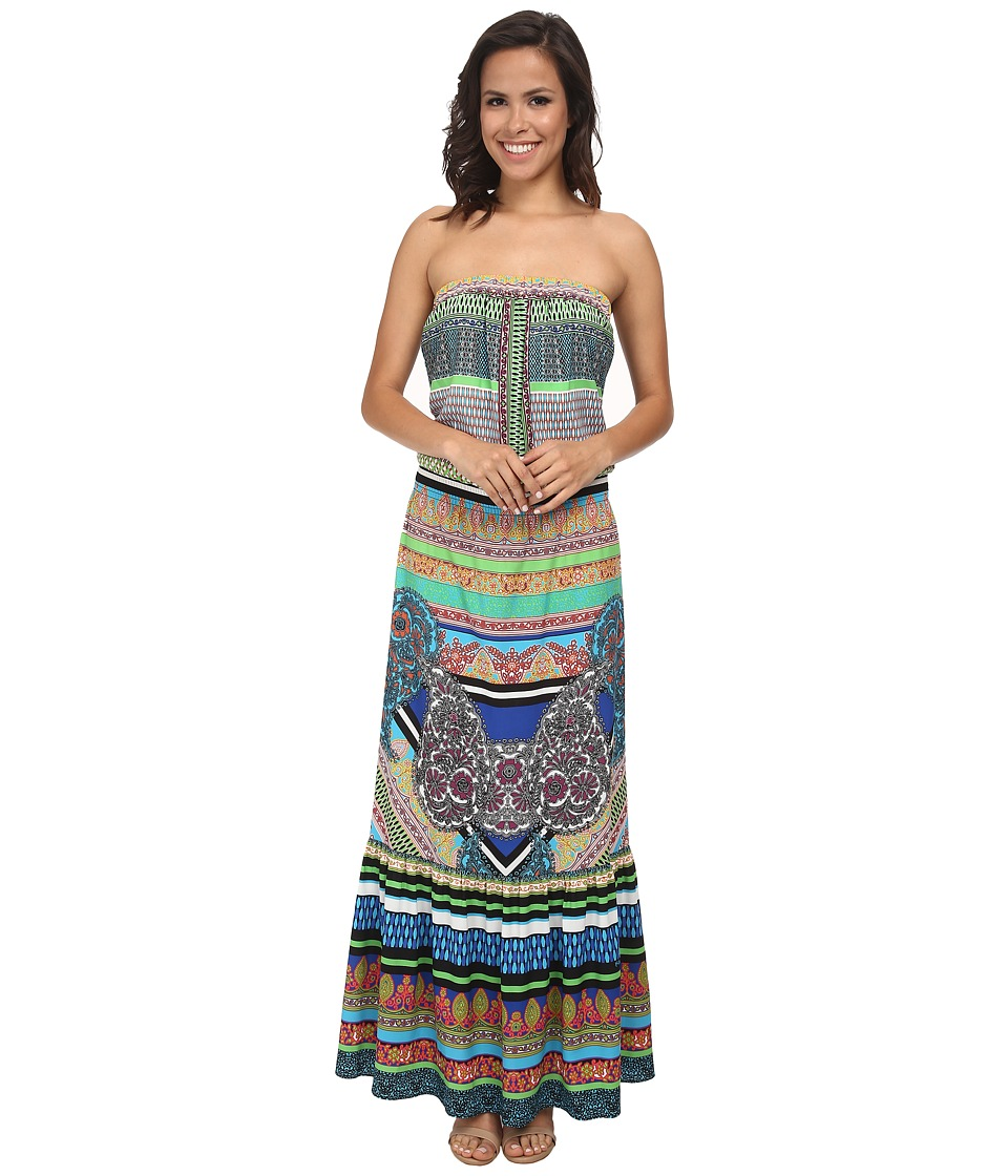 Hale Bob - Soft In The City Tube Top Maxi Dress (Teal) Women's Dress