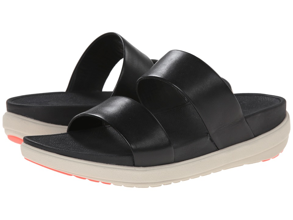 FitFlop - Loosh Slide Leather (Black) Women's Sandals