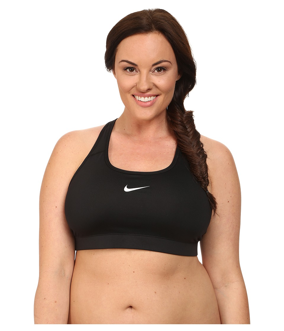 Nike - Pro Victory Compression Sports Bra (2XL/3XL) (Black/Black/(White)) Women's Bra