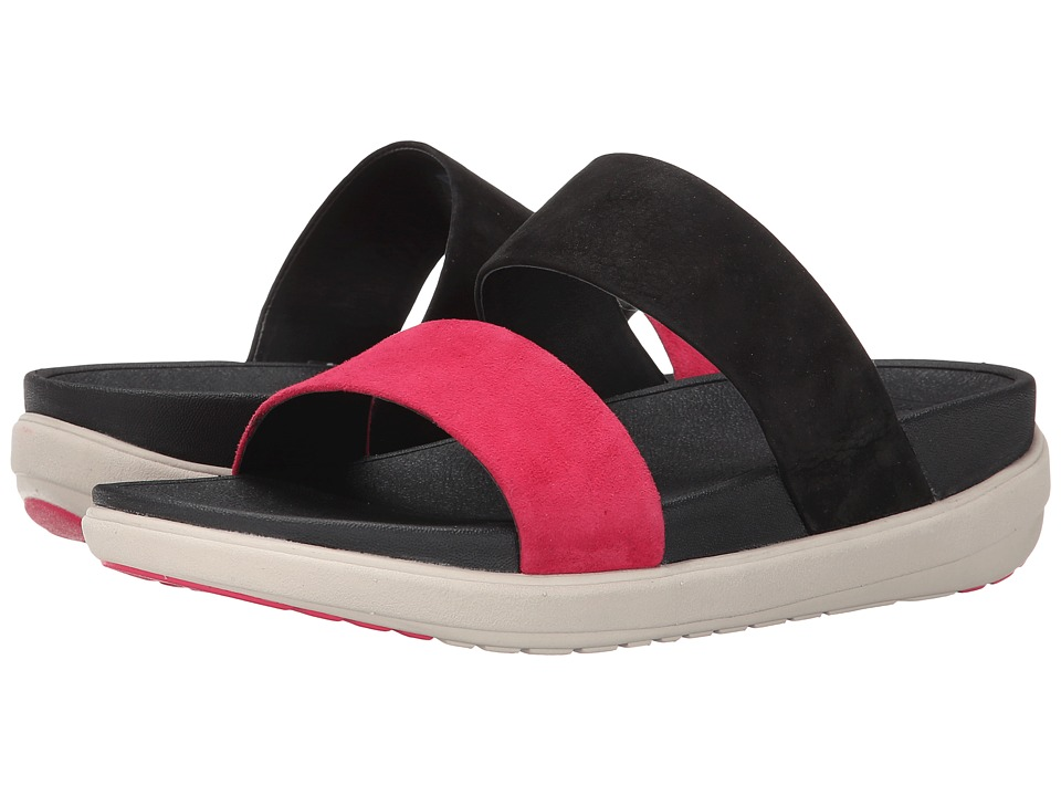 FitFlop - Loosh Slide Nubuck (Black Mix) Women
